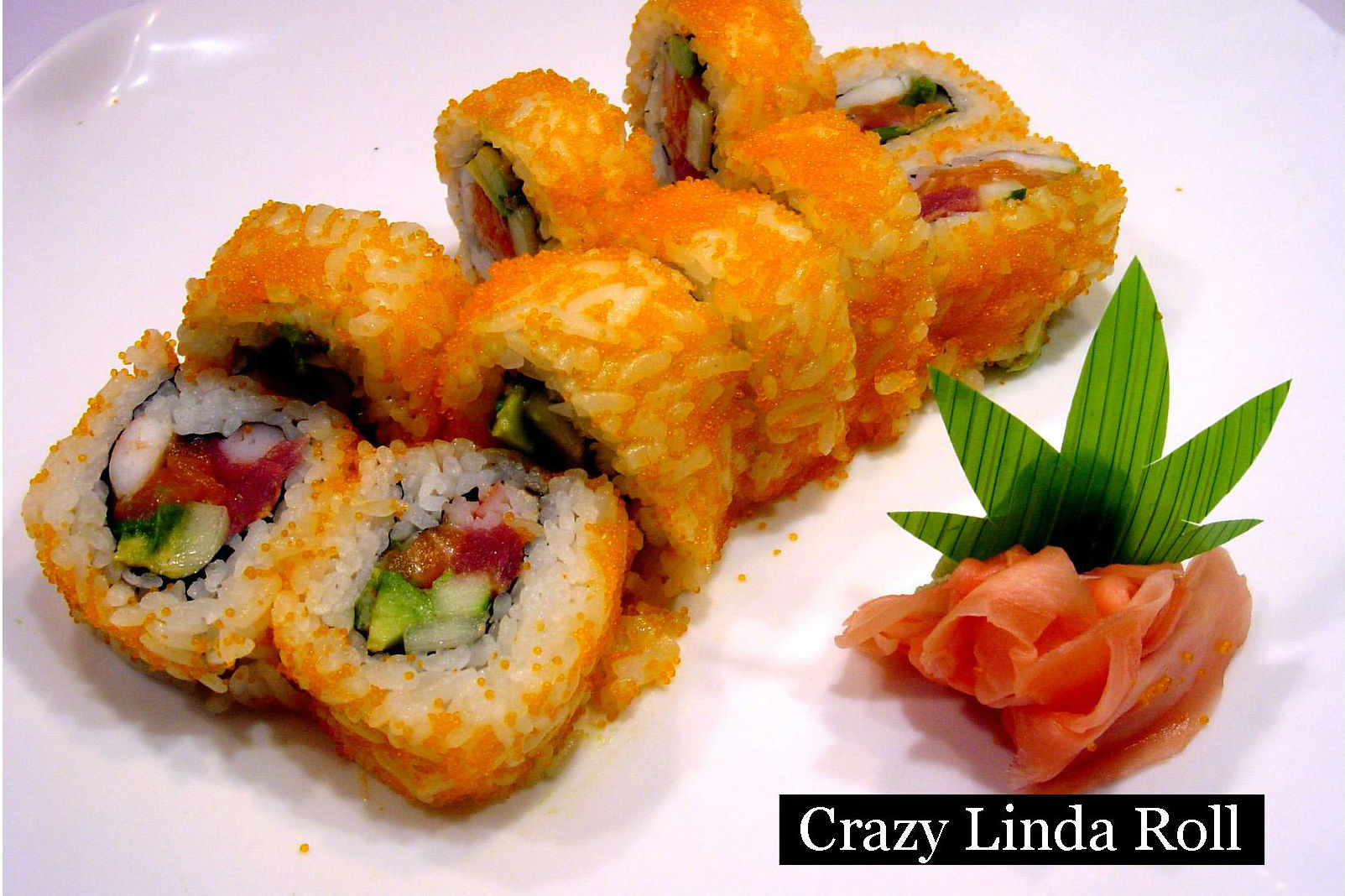 lunch sushi special crazy linda roll