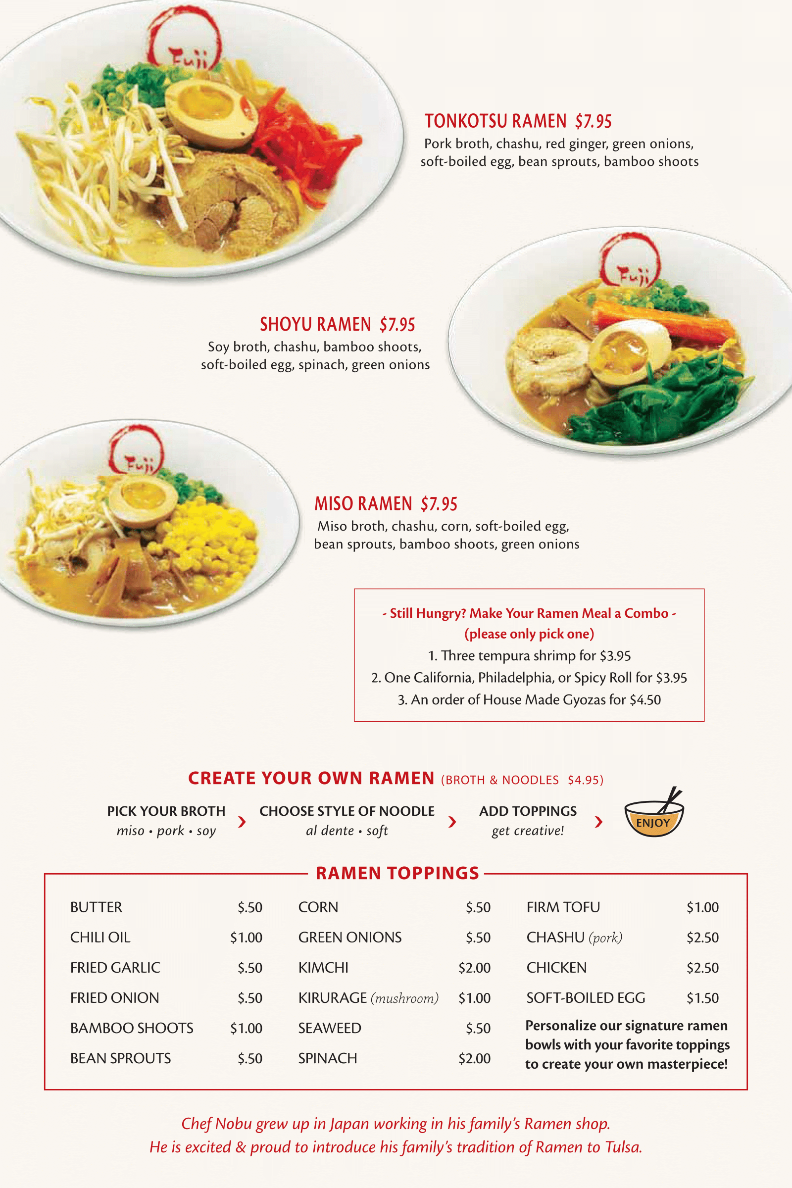Fuji Sushi Bar Full Menu - Page 8