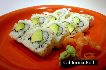 lunch sushi special california roll