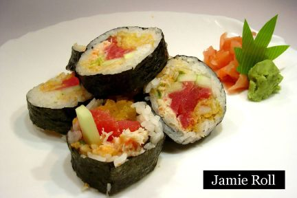 lunch sushi special jamie roll