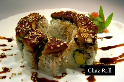 lunch sushi special chaz roll